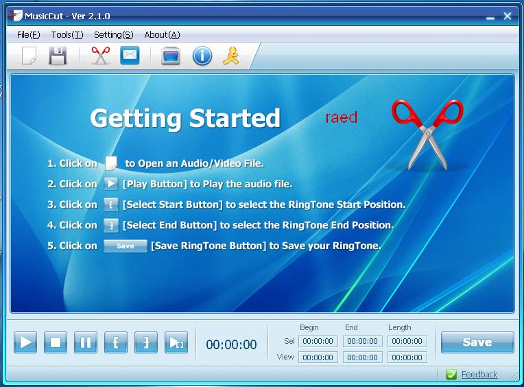 MusicCutلقطع ملفات صوتيه كبيرة أو ملف الفيديو إلىقطع صغيرة