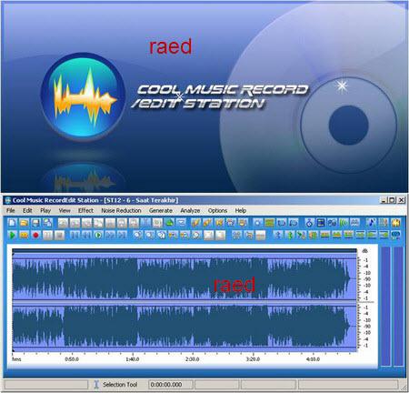 Cool Music Record قطع ونسخ ولصق واستيراد وتصدير وتاثيرات على الصوت+تسجيل